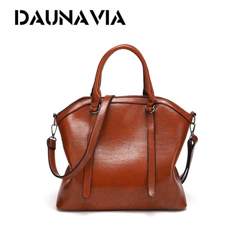 Hot Sale Women Leather Bags Luxury Oil Handbag Bolsa Feminina Designer Shoulder Bag Ladies SAC A Main High Capacity Totes Bags