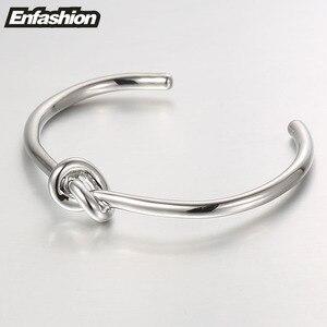 Image 5 - ENFASHION Wholesale Knot Cuff Bracelets Gold Color Manchette Bangle Bracelet For Women Armband Fashion Jewelry Pulseiras B4286
