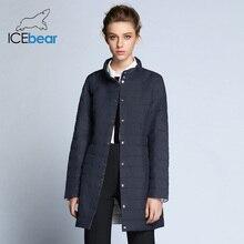 ICEbear 2018 Single Breasted Side Pockets With Closed Zipper Autumn Jacket Women Coat Cotton Padded Slim Jacket Coat 17G298D