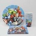 40 шт./компл. принадлежности для дня рождения Мстители Салфетка под тарелку кружку для вечеринки украшение супергероя детская душевая посуд...