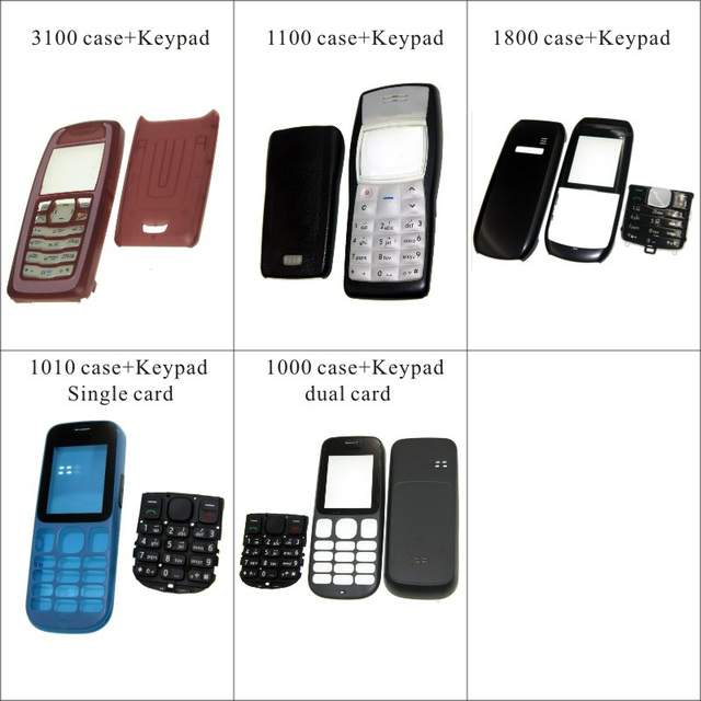 new style 23b0e 4ed97 US $5.18 |For Nokia 3100 1100 1800 1010 1000 Housing Front Faceplate Frame  Cover Case+Back cover/battery door cover+Keypad-in Mobile Phone Housings ...