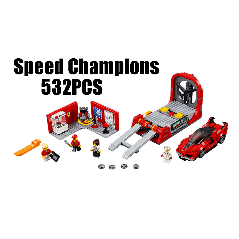 Compatible with Lego Technic Speed 75882 Lepin 28005 532pcs FXX K & Development Center building blocks Figure toys for children lepin 02025 city the high speed racer transporter 60151 building blocks policeman toys for children compatible with lego