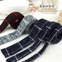 DIY manual material accessories hair thin Tartan cloth strip