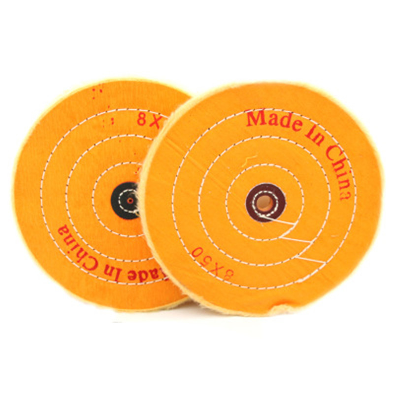 50-300mm Gold Silver Jewelry Mirror Polishing Wheel Cotton Buffing Wheel 50 Layers Polishing Disc