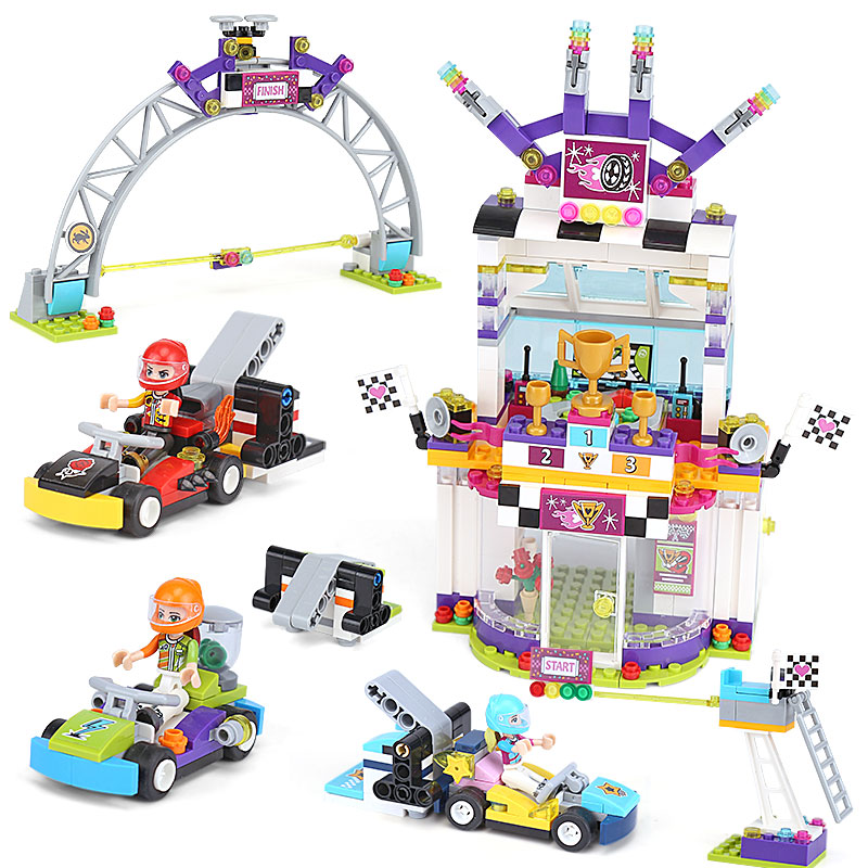 Girl Friends Heartlake City The Big Race Day Building Block Bricks Toys Compatible With Legoings Friends 41352 Christmas Gift