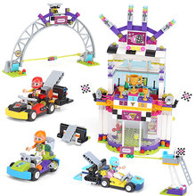 Girl Friends Heartlake City The Big Race Day Model Building Block Bricks Toys Compatible With Legoings Friends 41352