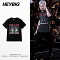 Korean Pop GD concert Tee Hip hop shirts Men Punk rock T-shirt Pink Floyd European Hot Tops Round Neck Clothing Chinese SIZE