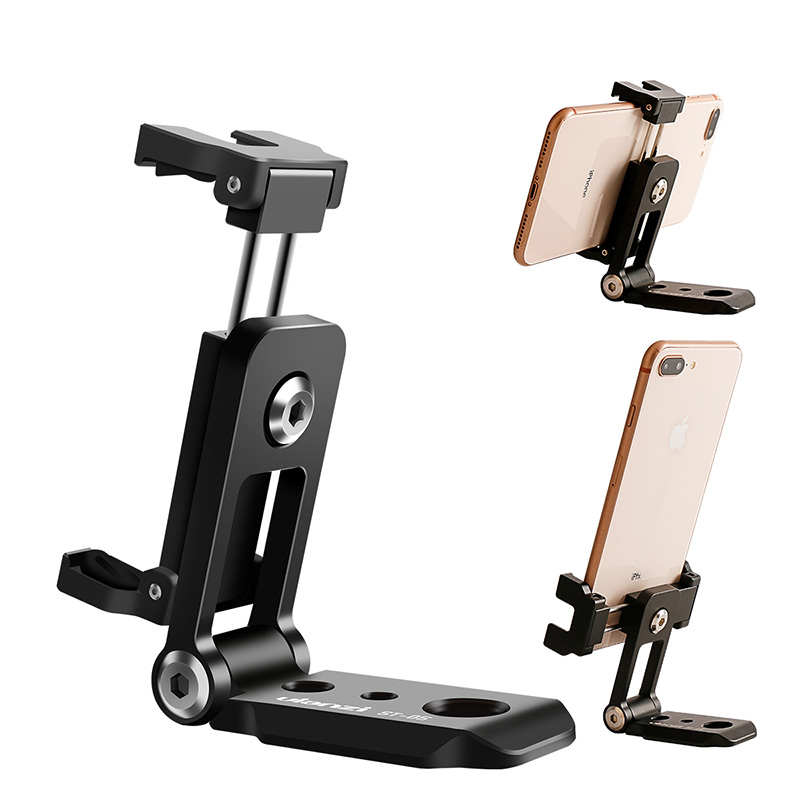 Ulanzi ST-05 Foldable Mini Phone Tripod Mount Adapter Vertical 360 Rotation Tripod Stand for iPhone X 8 7 Samsung S8 7 Redmi