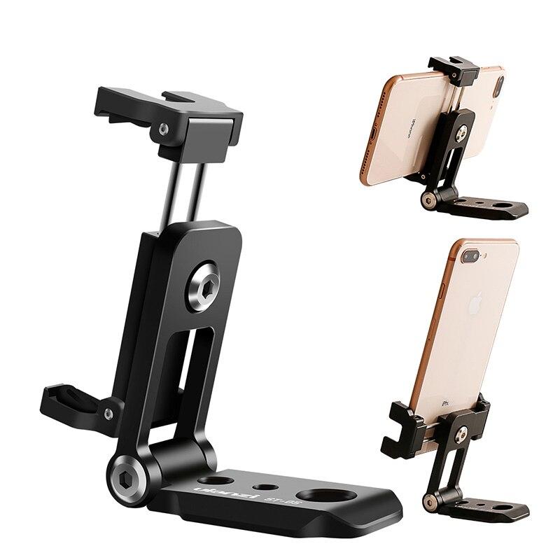 Ulanzi ST-05 Pieghevole Mini Telefono Treppiede Adattatore di Montaggio Verticale 360 di Rotazione Treppiede per iPhone X 8 7 Samsung S8 7 Redmi