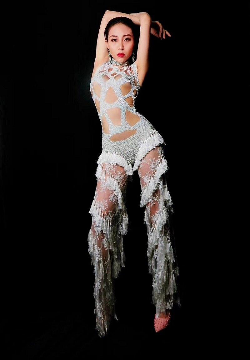 Stretch Dames Wear Gland Sexy De Pierres Salopette Justaucorps Soirée Femmes Vêtements Sans Blanc Street Dentelle Manches Fantastique qTU7gxTOnw