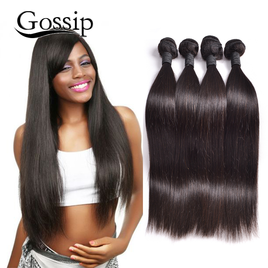 Peruvian Virgin Hair Straight 4 Bundles Deals Gossip Hair ...
