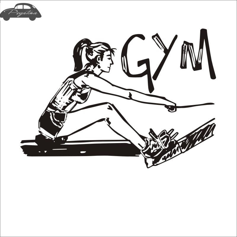 Pegatina Car Gym Sticker Girl Fitness Crossfit Decal Body-building Posters Vinyl Wall Decals Parede Decor Mural Gym Sticker