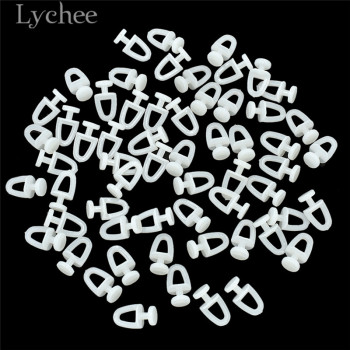 Lychee Life 60pcs Plastic Rail Curtain Hook Rollers 1