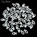 Lychee 60 шт Пластиковые рельсовые крючки для штор ролики Высокое качество Аксессуары для штор треков