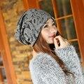 1 шт. корейский женщины трикотаж кепка осень зима тёплый Skullies шапочки шляпы для девочки 3 цвета