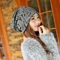 1 unids 2015 corea nuevas mujeres gorro de punto otoño invierno caliente Skullies gorros sombreros para las niñas 3 colores liberan el envío