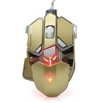 Wired Macros Gaming Mouse Computer 4000 DPI 10 Buttons Backlit Optical Gamer Mice Mechanical Ergonomic PC Desktop Peripherals 3