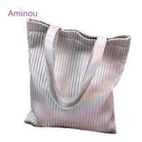 2017 Summer Fashion Women Laser Beach Bag Luxury Handbags Woman Designer Casual Stripe Tote Bag Large