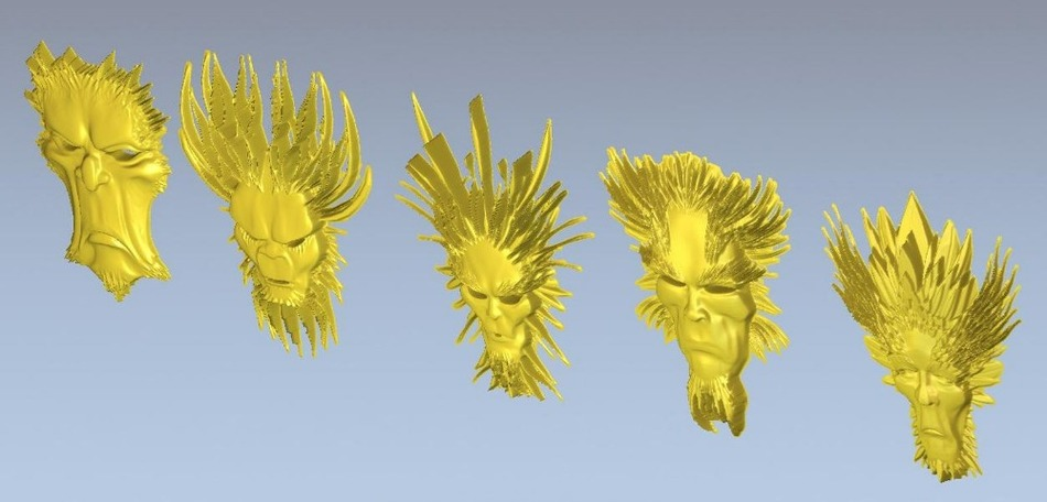 3d Model Relief  For Cnc In STL File Mask_1