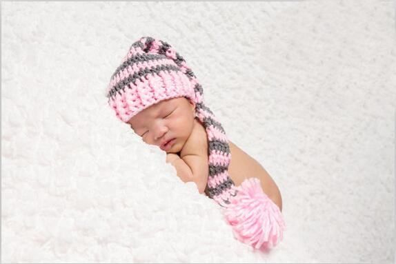 Handmade Crochet Pixie Knot Beanie Hat Newborn Baby Girl Boy Kids Photo Prop Clothing, Shoes & Accessories