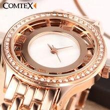 Comtex Moda Mujeres Reloj simplicidad de Aleación de Correa de Reloj de Señoras Reloj de Cuarzo Ocasional Impermeable Reloj de pulsera de regalo exquisito