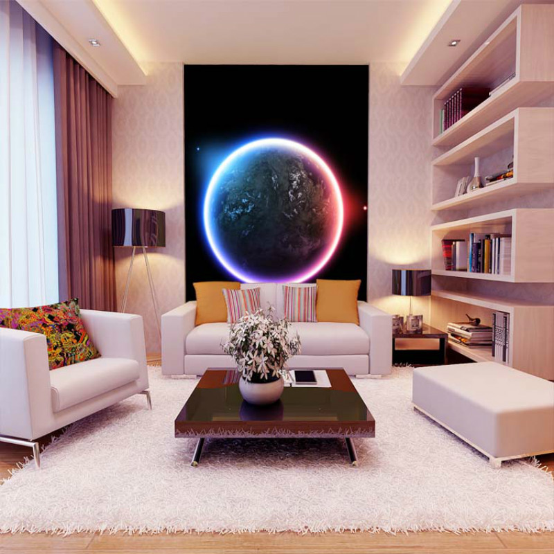 Star Universe Planet Mural Tv background 3D wallpaper for living room dream non-woven wall sticker for painting modern brief custom 3d photo wallpaper mural living room star wars black knight 3d painting sofa tv background wall non woven wall sticker