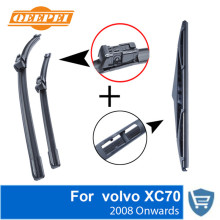QEEPEI Front and Rear Wiper Blade no Arm For volvo XC70 2008 Onwards High quality Natural Rubber windscreen 26+20