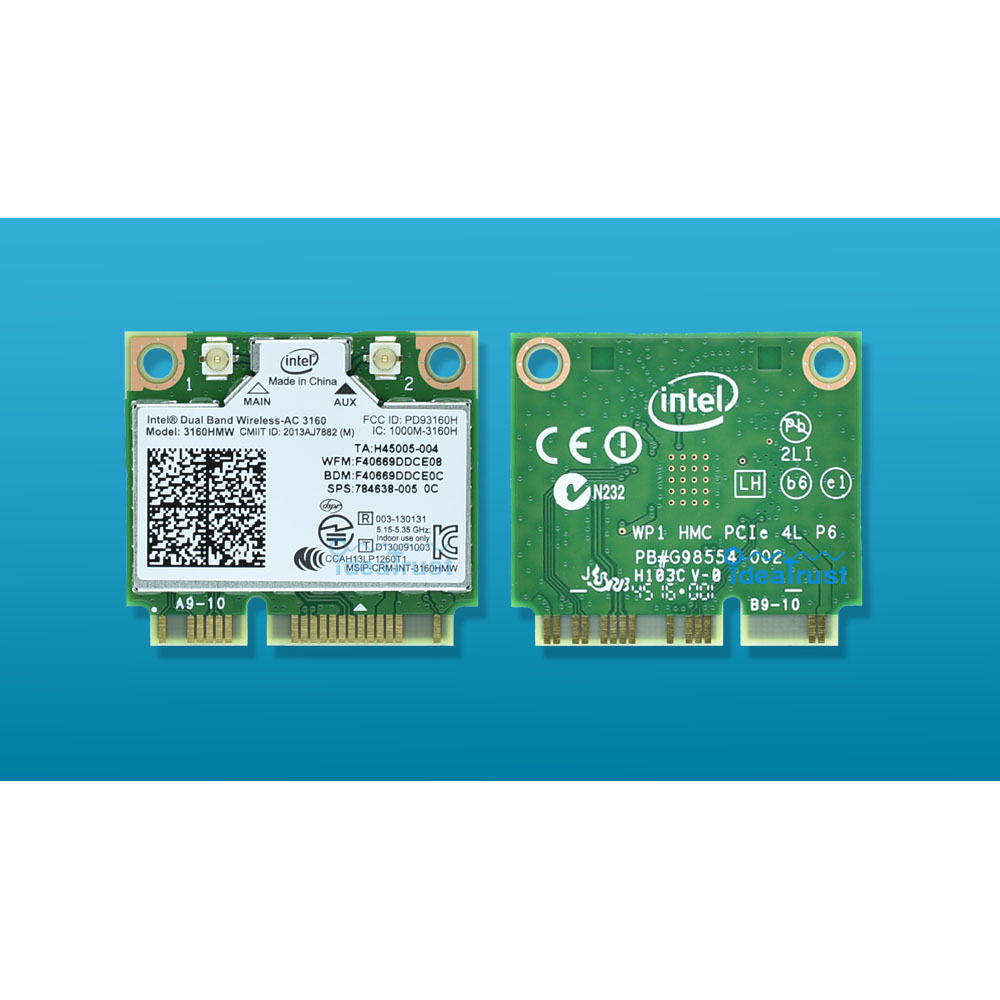 Новый для Intel 3160hmw 3160 AC intel3160 3160hmw 3160ac 2.4 и 5 г Bluetooth4.0 Mini PCIe WLAN Wi-Fi Беспроводной сетевой карты