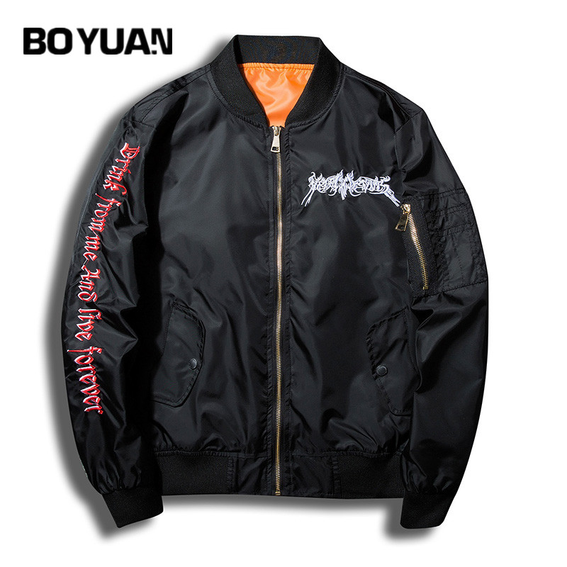 BOYUAN Masculine Jacket Bomb Man Jacket Mens Coats Letters Embroidery Hip Hop Baseball Jacket Men Spring Autumn Coat JTC52 ...