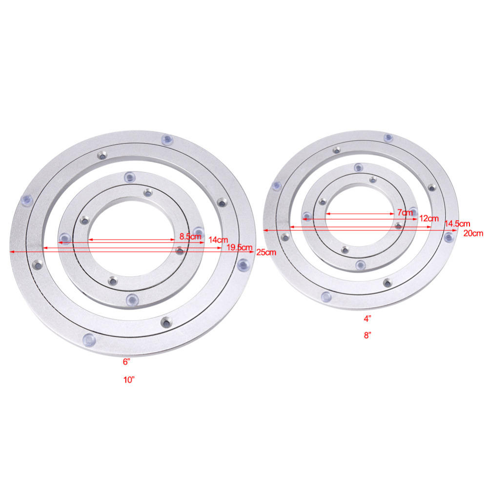 10 Inch Heavy Duty Rotating Turntable Bearing Lazy Susan Smooth Swivel Plate