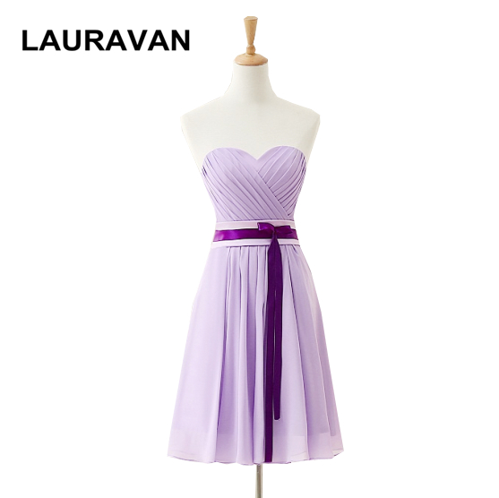 short strapless women's new elegant   dress   to the lavender lilac purple short   bridesmaid     dresses   2019 formal pageant gowns