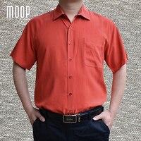 Zakelijke stijl beige blauw oranje pure natuurlijke zijde shirt korte mouwen chemise homm camiseta masculina camisa masculina LT1507