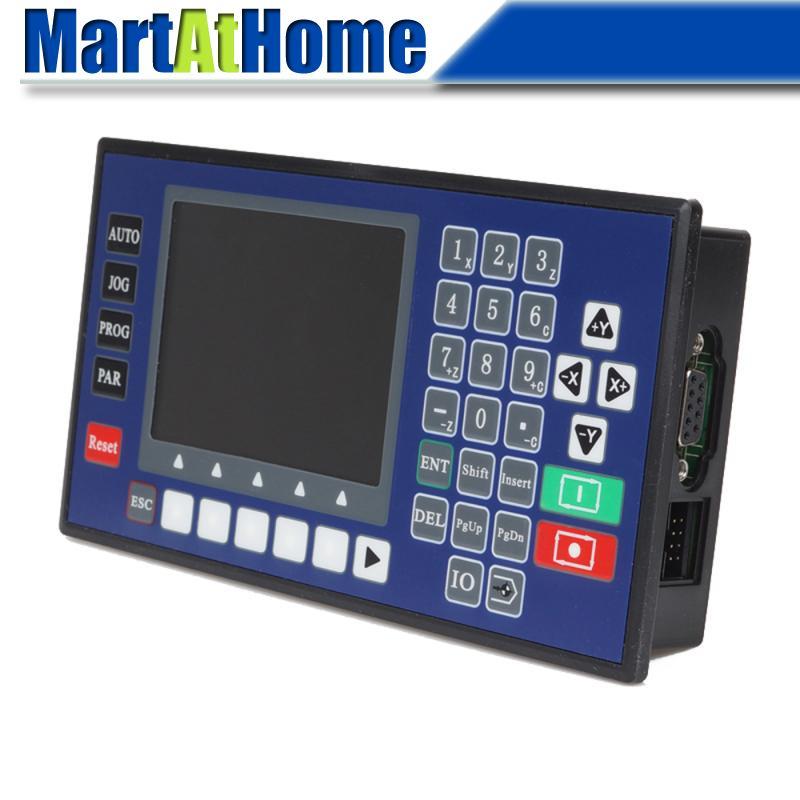 Axe simple CNC mouvement contrôleur moteur pas à pas contrôleur w / écran LCD pour plasma, Laser Cutter flamme # SM654 SD