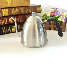1 Stück Freies Verschiffen 1L Edelstahl Kaffee Heißer Wasser Kaffeekanne Espresso Kaffee Server