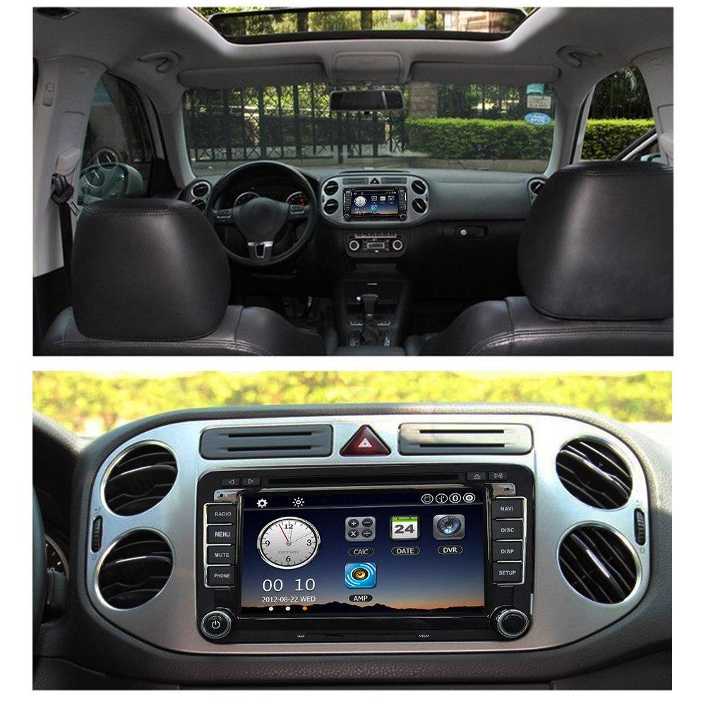 7 1080P HD DVD Player GPS Navigation BT Car Radio 2 Din Dash Car PC Stereo Head Unit for VW Volkswagen +Free Map