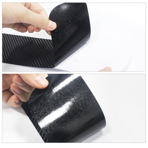 Image 5 - Carbon Fiber Vinyl Sticker Car Door Sills Door Threshold For Infiniti QX80 Door Entry Guard Door Sill Scuff Plate 4Pcs Auto Part