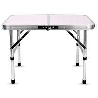 Aluminum Folding Camping Table Laptop Bed Desk Adjustable Height Portable Mini Rectangle Table Aluminum Alloy Holder
