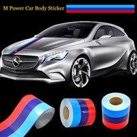 Car Styling 15CM 2M M Colored Stripe Car Hood Vinyl Sticker Body Decal For BMW M3