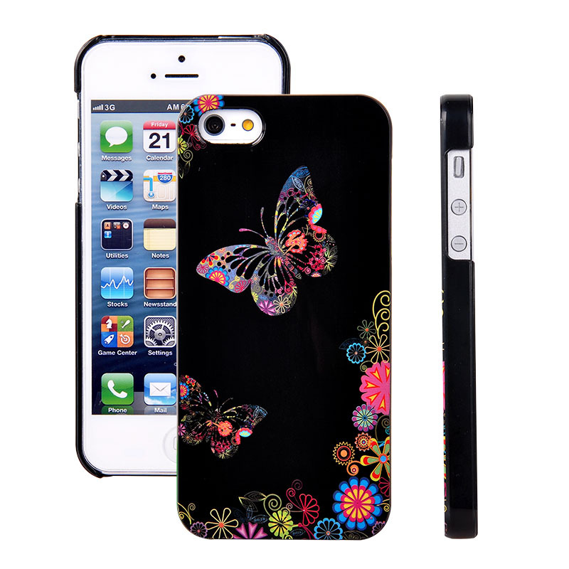 fashion butterfly lovers cases for iphone 5 5s luxury romanticfashion butterfly lovers cases for iphone 5 5s luxury romantic design plastic hard back cases for iphone se coque free shipping