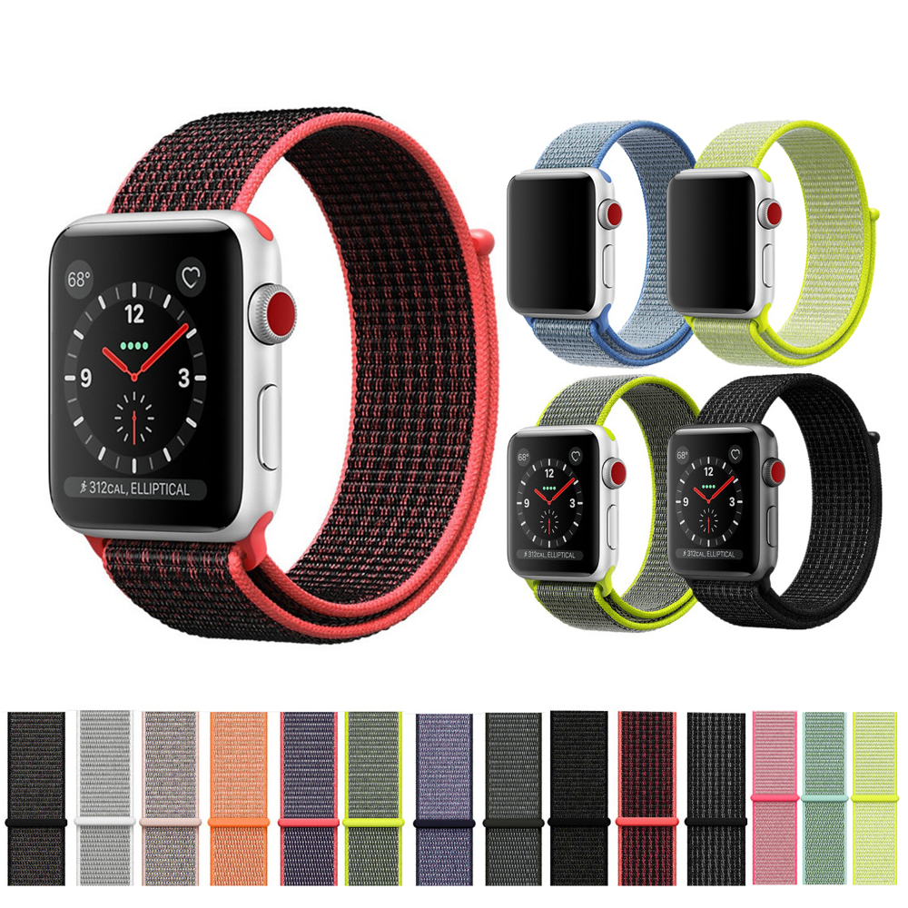 CRESTED Sport loop For Apple Watch band 42mm 38mm iWatch 3/2/1 nylon watch strap bracelet watchband hook-and-loop closure clasp