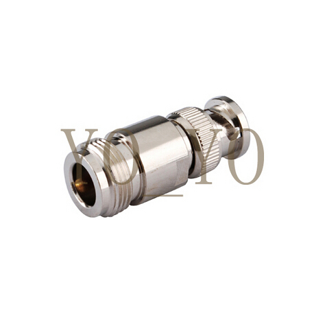 Hot Sale RF connector   Copper N Type Female to BNC Male Coaxial Coax Adapter Connector f head female to rf female connector imperial rf tv connector angle copper