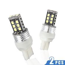 купить 2pcs T20 W21W Car Backup Reverse Light  for White High Stop Rear Lamp Bulb Error Free 6500K LED White 12-24V 3030 24-SMD WY21W по цене 211.19 рублей
