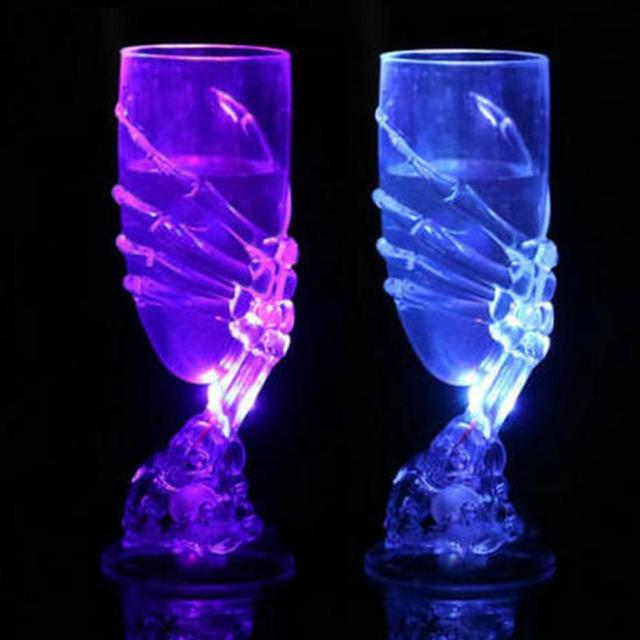 Glowing LED Skeleton Hand Wine Glass