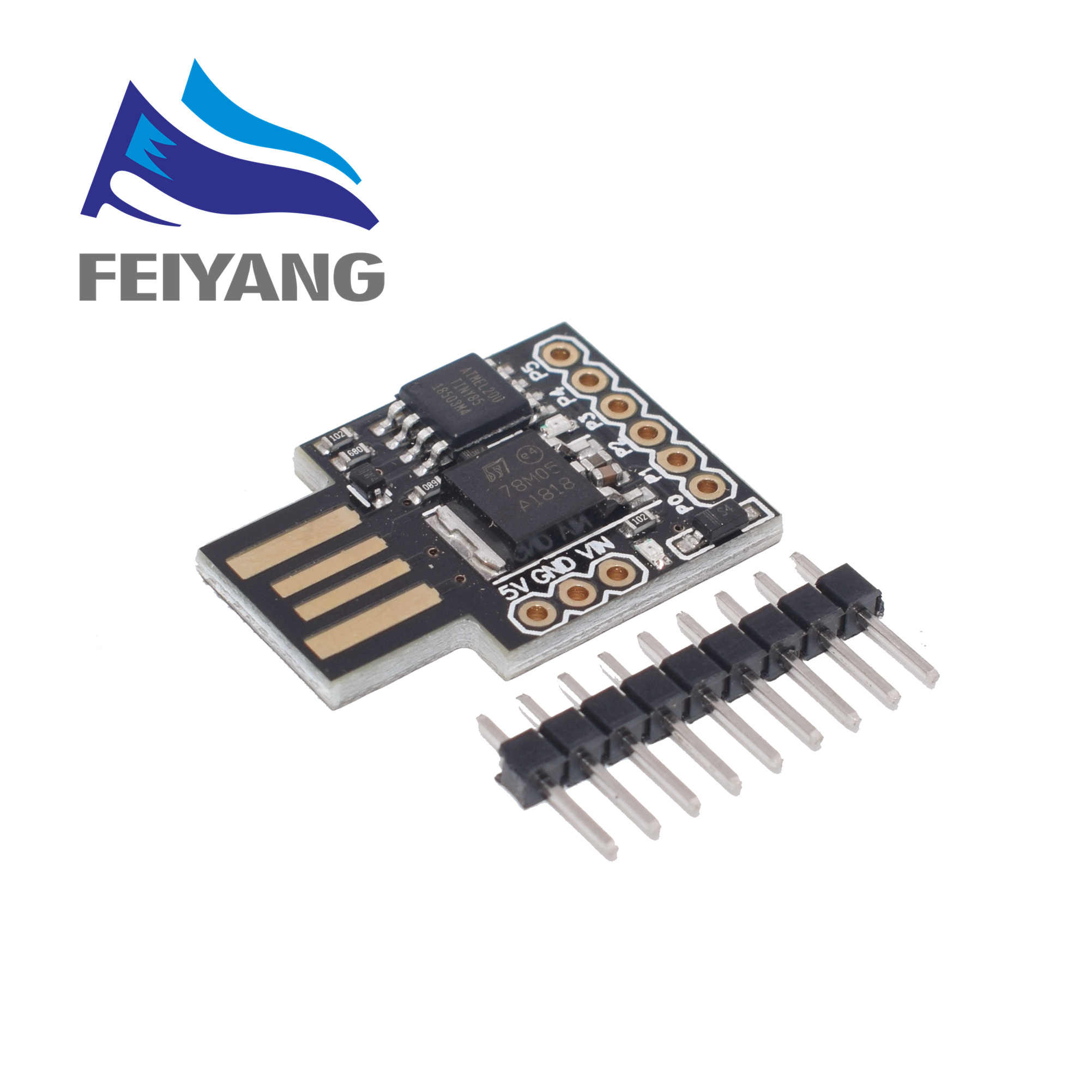 1 pièces bleu noir TINY85 Digispark Kickstarter Micro carte de développement ATTINY85 module pour Arduino IIC I2C USB
