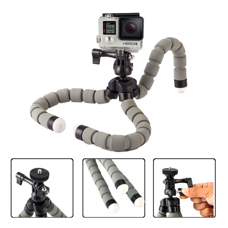Universal Octopus Spider Flexible Desktop Tripod DSLR Camera DV Stand Mini Adjustable Tripod for GoPro Camera Smartphone