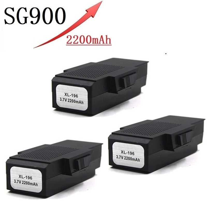 Upgrade 2200mAh 3.7V Lipo Battery For SG900 F196 X196 X192 RC Helicopter Quadcopter Spare Parts SG-900 3.7v Drone Battery 3pcs