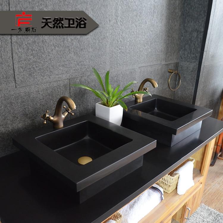 Ordinaire Stone Basin Marble Vanity Washbasin Suit Creative Arts Black Stone  Countertops Customized Pots Audience Pots In Bathroom Vanities From Home  Improvement On ...