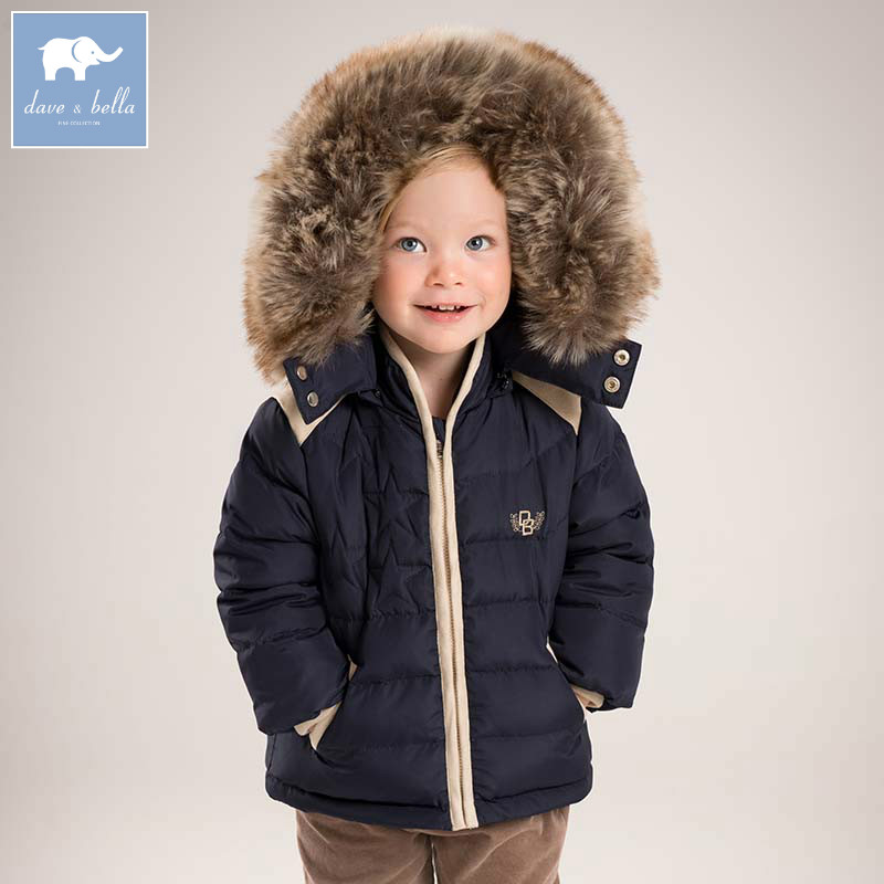 DB5511 dave bella winter baby boys down jacket children white duck down padded coat kids hooded outerwear db4088 dave bella baby girls padded clothing hooded padded coat outerwear kids down jacket