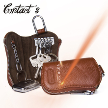 New Fashion Genuine Leather Men Key Wallet Zipper Car Key Or