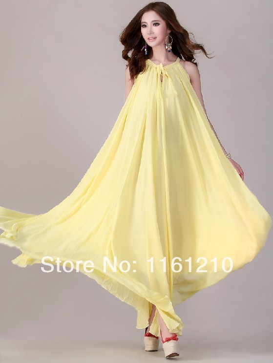 Summer bridesmaid sundress holiday beach maxi dress beach for Wedding guest pregnancy dresses